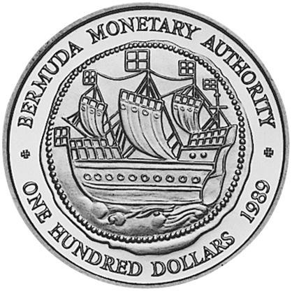 1989 Bermuda 100 Dollars obverse