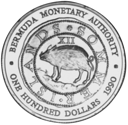 1990 Bermuda 100 Dollars reverse