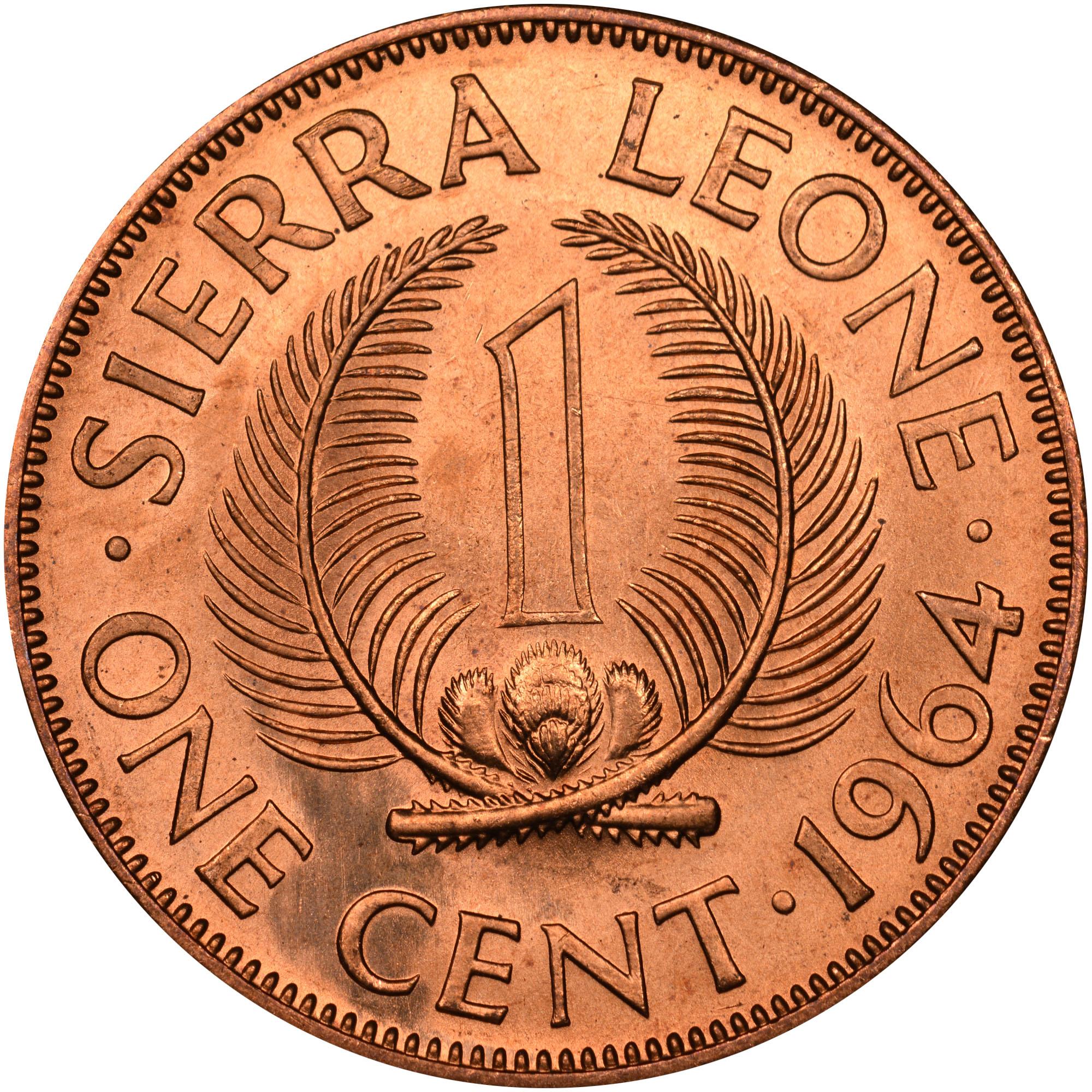 Sierra Leone Cent Km 17 Prices Values Ngc