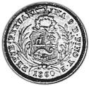 Peru 1/2 Real obverse