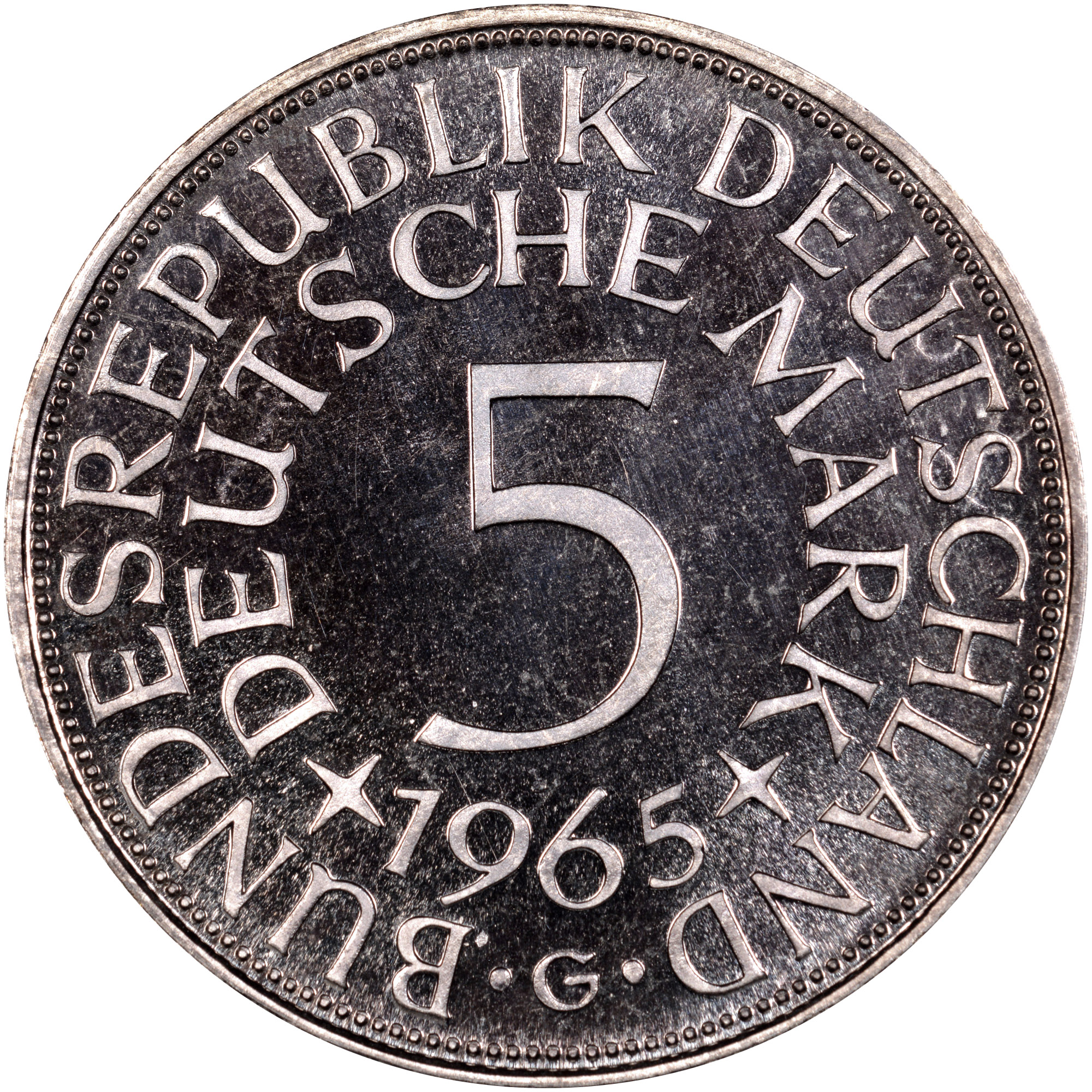 Germany - Federal Republic 5 Mark obverse