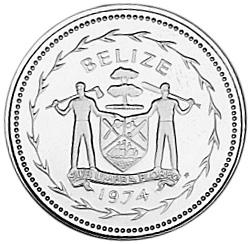 1974 Belize 5 Cents obverse