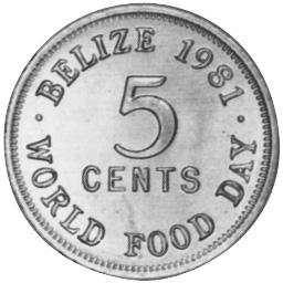 Belize 5 Cents reverse