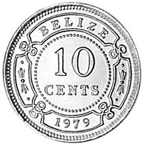 Belize 10 Cents reverse