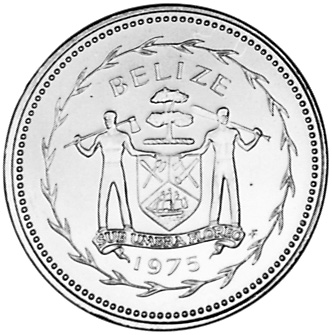 1975-1981 Belize 50 Cents obverse