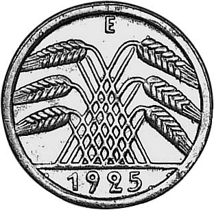 1924-1925 Germany, Weimar Republic 50 Reichspfennig reverse