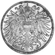 Austria 2 Heller obverse