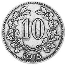 Austria 10 Heller reverse
