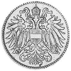 Austria 10 Heller obverse
