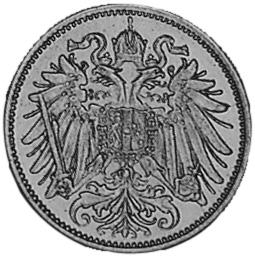 1892-1914 Austria 20 Heller obverse