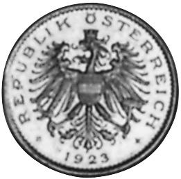 1923-1924 Austria 20 Kronen obverse