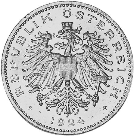 1923-1924 Austria 100 Kronen obverse