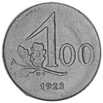 Austria 100 Kronen reverse