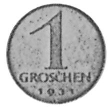 Austria Groschen reverse