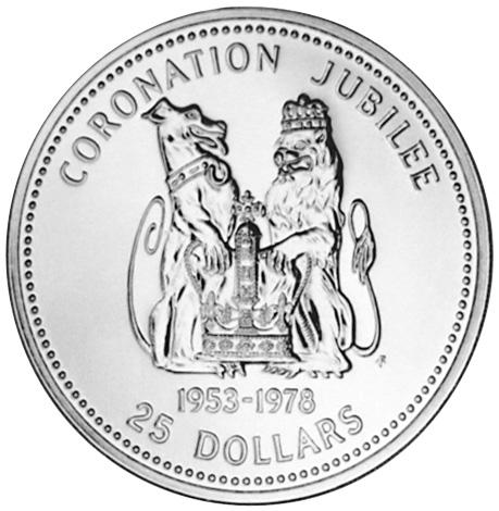 1978 Belize 25 Dollars reverse