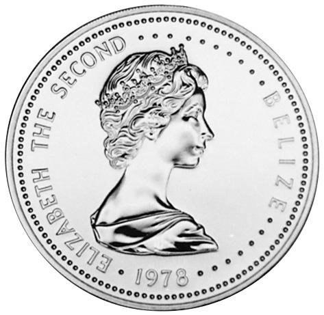 1978 Belize 25 Dollars obverse