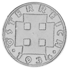 1925-1938 Austria 2 Groschen obverse