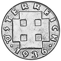 1931-1938 Austria 5 Groschen obverse