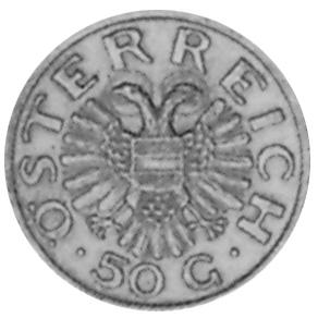 1935-1936 Austria 50 Groschen obverse