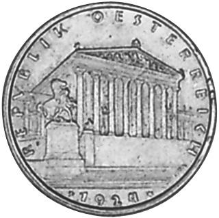 1924 Austria Schilling obverse