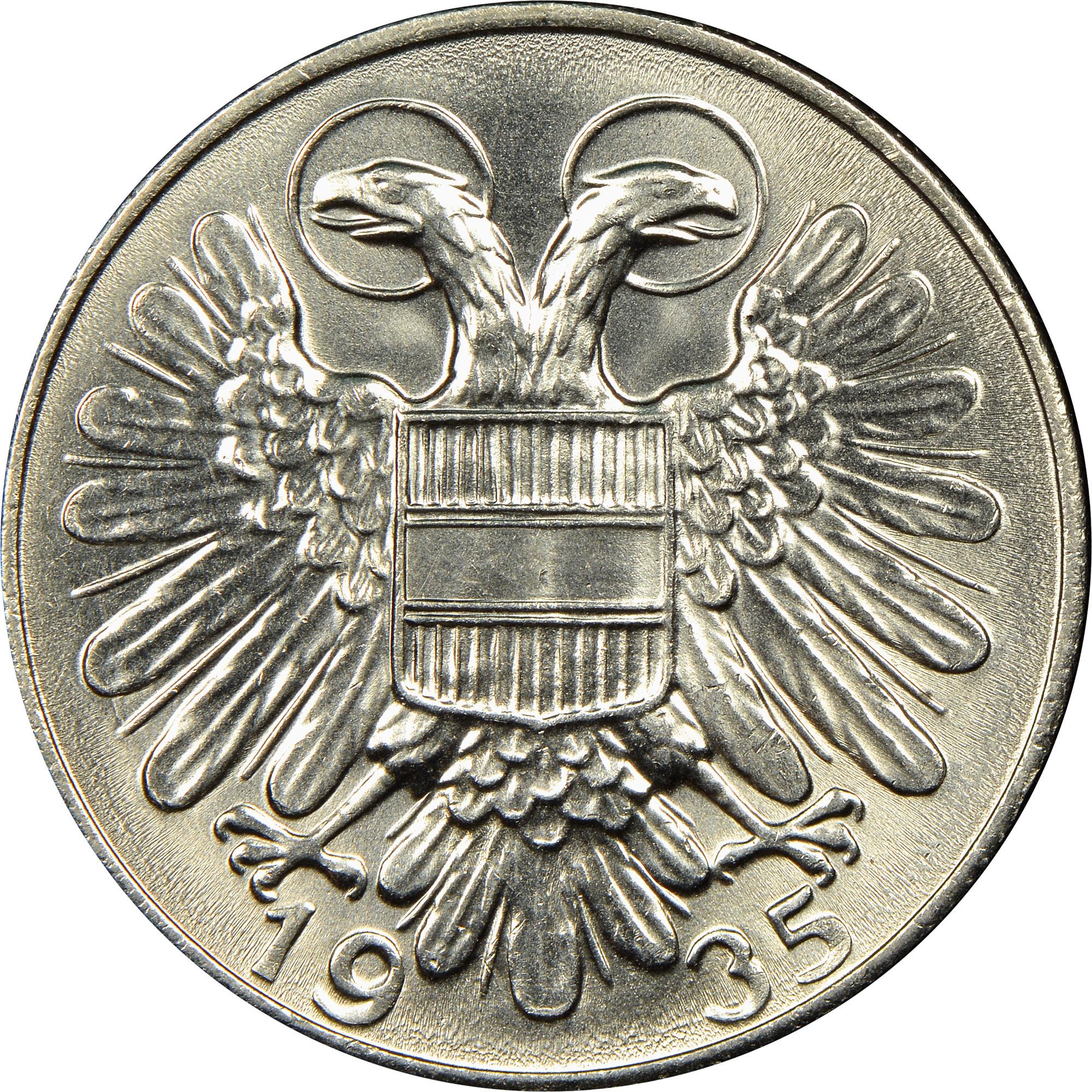 1934-1935 Austria Schilling reverse