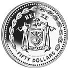 1981 Belize 50 Dollars obverse