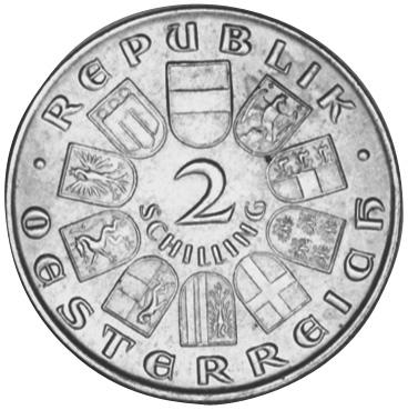 1932 Austria 2 Schilling obverse