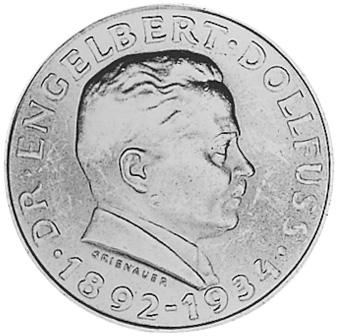 1934 Austria 2 Schilling reverse