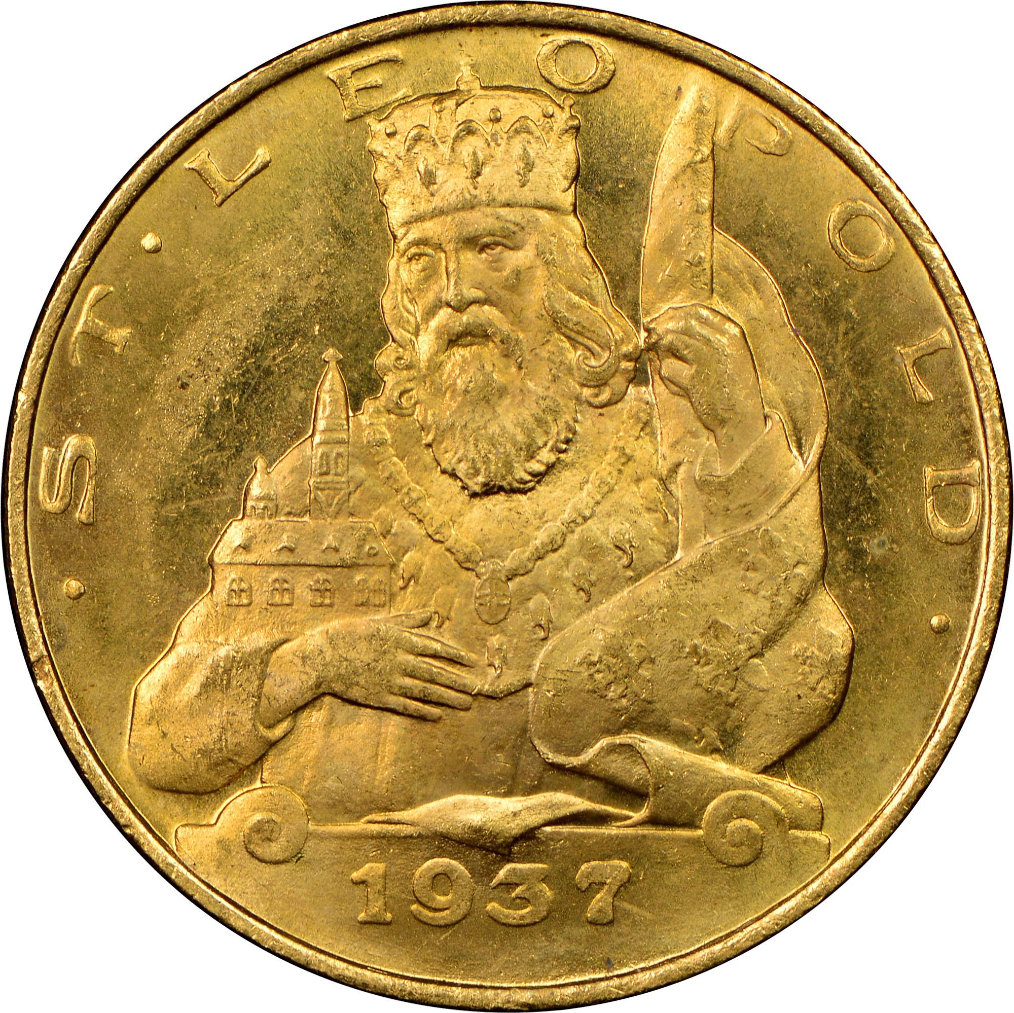 1935-1938 Austria 25 Schilling reverse