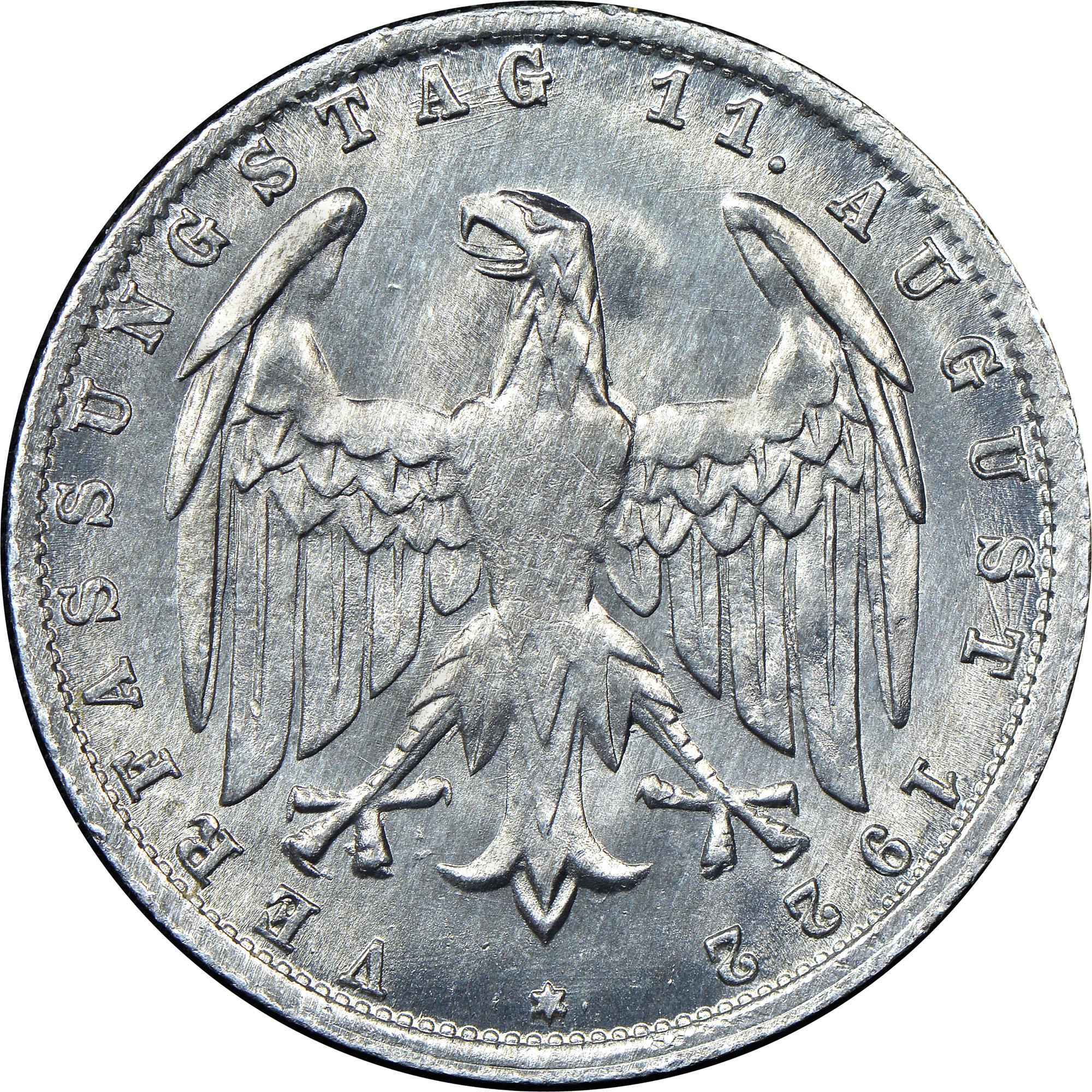 Germany - Weimar Republic 3 Mark reverse
