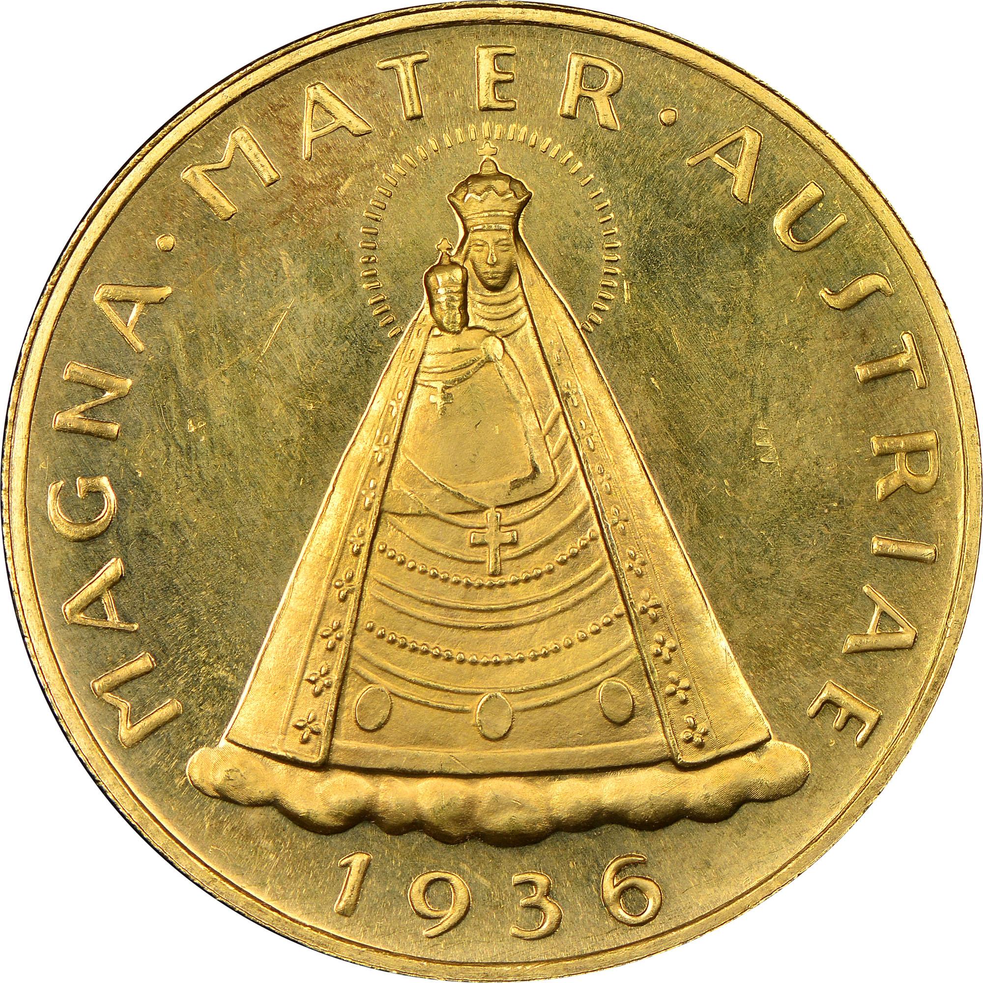 1935-1938 Austria 100 Schilling reverse