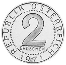 Austria 2 Groschen reverse