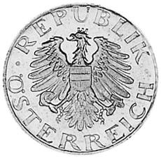 1948-1994 Austria 5 Groschen obverse