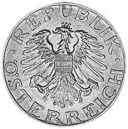 1946-1955 Austria 50 Groschen obverse