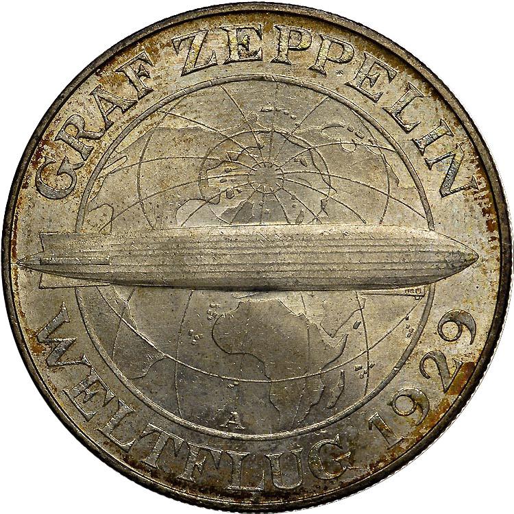 Germany - Weimar Republic 5 Reichsmark obverse