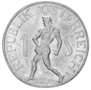 1946-1957 Austria Schilling obverse