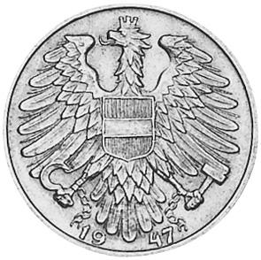 1946-1957 Austria Schilling reverse