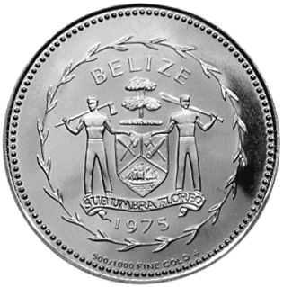 1975 Belize 100 Dollars obverse