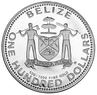 1979 Belize 100 Dollars obverse