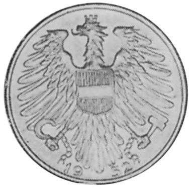 Austria 5 Schilling reverse