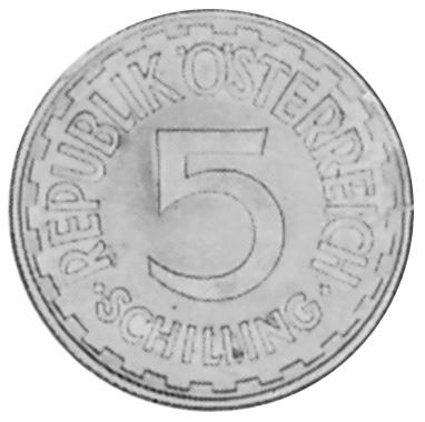 Austria 5 Schilling obverse