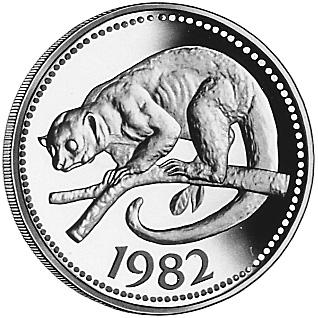 1982 Belize 100 Dollars reverse
