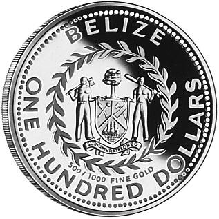 1982 Belize 100 Dollars obverse