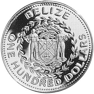 1985 Belize 100 Dollars obverse