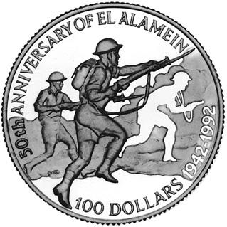 1992 Belize 100 Dollars reverse