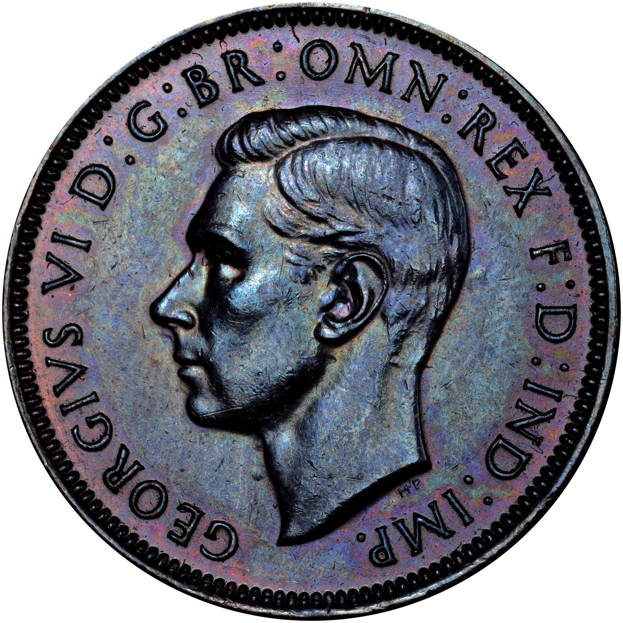 1938-1939 Australia 1/2 Penny obverse
