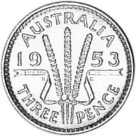 Australia Threepence reverse