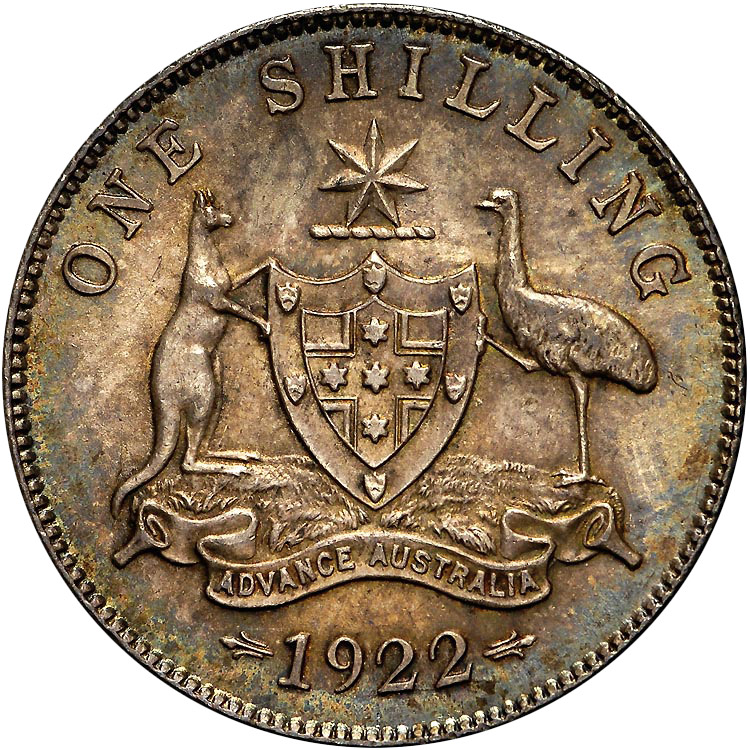 1911-1936 Australia Shilling reverse