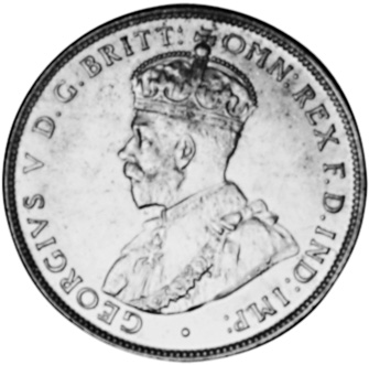 1911-1936 Australia Florin obverse