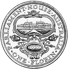1927 Australia Florin reverse